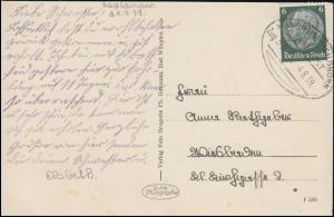 Bahnpost MANNHEIM-HEILBRONN 4.8.1939 auf AK Bad Wimpfen Blick vom Mathildenbad