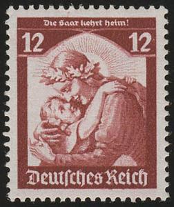 567 1935 Saarabstimmung 12 Pf ** kräftig (Nachauflage)