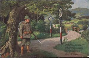 Feldpost BS 8. Bayer. Landw.-Inf.-Regiment 19.10.15 auf AK Deutsche Grenzwacht