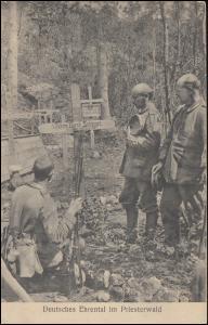 Feldpost BS Armierungs-Bataillon Nr. 81 - 15.9.1915 auf AK Soldatenfriedhof