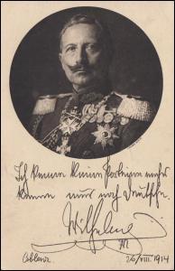 Feldpost Deutsche Kriegskarte: Kaiser Wilhelm II, DÖBERITZ-ÜBUNGSPLATZ 28.2.15