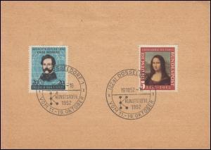 Sonderstempel DÜSSELDORF Kunststoffe 1952 vom Letzttag 19.10.1952