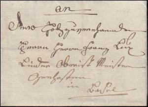Baden Vorphilatelie Faltbrief geschrieben 1811 nach Lindau