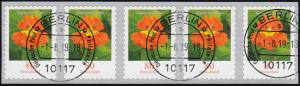 3482 Kapuzinerkresse 80 Cent sk aus 10000er 5er-Streifen GERADE Nummer ET-O
