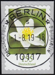 3484 Buschwindröschen 155 Cent sk aus 500er, waager. ung. Nummer, ET-O Berlin