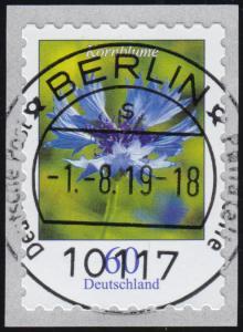 3481 Blume Kornblume, selbstklebend von der Rolle, ET-O 1.8.19