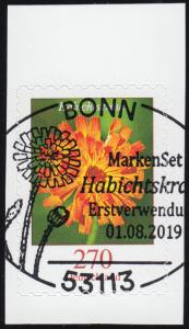 3490 Blume Habichtskraut, selbstklebend aus FB 93, EV-O BONN 1.8.2019