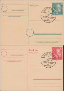 PSo 1-2 Richtfest und Bundestag beide ESSt BONN Erste Sitzung Bundestag 7.9.1949