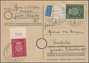 121-122 Bach-Satz OR-Stücke Postkarte SSt DÜSSELDORF Funkausstellung 23.8.1950