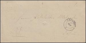 Baden Faltbrief Zweikreis SECKINGEN 13.10.1862 an den Posthalter Malzacher