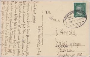 Bahnpost BRESLAU-CHARLOTTENBRUNN ZUG 1077 - 18.10.1927 AK Schlesiertal Talsperre