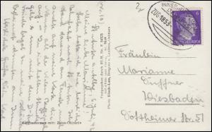 Bahnpost INNSBRUCK-LINDAU ZUG 1853 - 6..7.1942 auf St. Anton am Arlberg Panorama