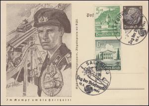 Postkarte P 242/04 KdF-Sammlergruppe: Panzertruppe, ESSt Salzburg 12.1.41