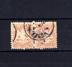 Bayern 28 Wappen 9 Kreuzer im Paar - Einkreisstempel WÜRZBURG