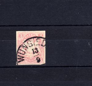 Bayern 15 Wappen 3 Kreuzer mit PLF lange Kratzer, Stempel 12a WUNSIEDEL 13.9.