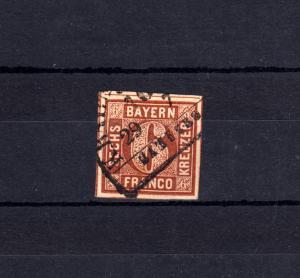 Bayern 4II Ziffer 6 Kreuzer - mit Bahnpoststempel K.BAYR. ... 29.7.