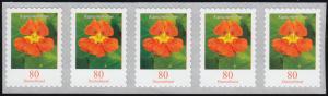 3482 Kapuzinerkresse 80 Cent sk aus 5000er 5er-Streifen GERADE Nummer **