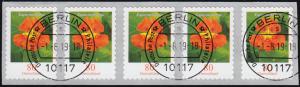 3482 Kapuzinerkresse 80 Cent sk aus 5000er 5er-Streifen GERADE Nummer ET-O