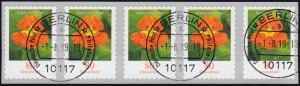 3482 Kapuzinerkresse 80 Cent sk aus 10000er 5er-Streifen UNGERADE Nummer ET-O
