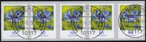 3481 Kornblume 60 Cent sk aus 2000er 5er-Streifen mit UNGERADER Nummer, ET-O