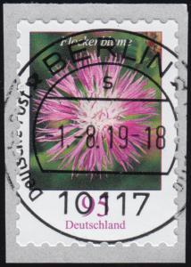 3483 Flockenblume 95 Cent sk mit GERADER Nummer, ET-O1.8.2019