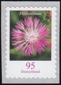3483 Flockenblume 95 Cent sk mit GERADER Nummer **