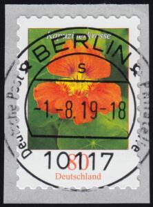 3482 Kapuzinerkresse 80 Cent sk aus 5000er mit UNGERADER Nummer, ET-O 1.8.19