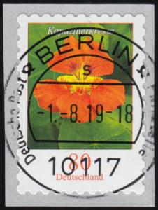 3482 Kapuzinerkresse 80 Cent sk aus 10000er mit GERADER Nummer, ET-O 1.8.19