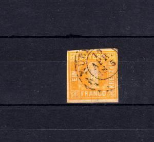 Bayern 8I Ziffer 1 Kreuzer gelb mit Zweikreisstempel NÜRNBERG 10.4.1865