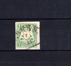 Bayern 14 Wappen 1 Kreuzer - Stempel 11b Halbkreisstempel EBERN 7.12.