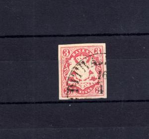 Bayern 15 Wappen 3 Kreuzer - Stempel 11b Einkreisstempel DIETRAMSZELL 16.4.