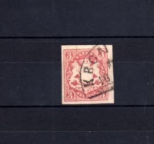 Bayern 15 Wappen 3 Kreuzer - Stempel 12a Halbkreisstempel KRONACH