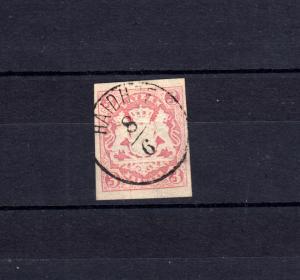 Bayern 15 Wappen 3 Kreuzer - Stempel 17 Einkreisstempel HAIDHOF 8.6.