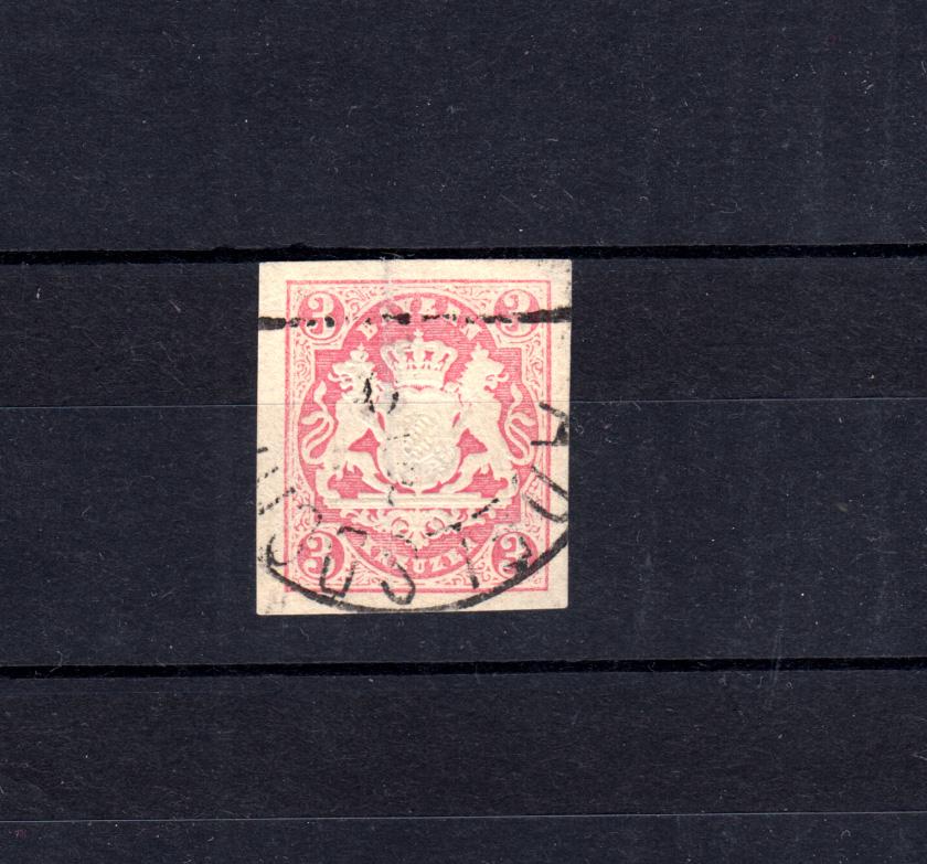 Bayern 15 Wappen 3 Kreuzer - Stempel 12a Halbkreisstempel ADELSDORF  0
