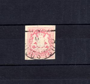 Bayern 15 Wappen 3 Kreuzer - Stempel 12a Halbkreisstempel ADELSDORF