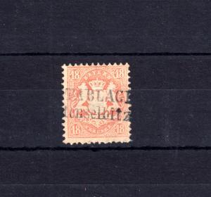 Bayern 27 Wappen 18 Kreuzer - Zweizeiler POSTABLAGE Wüstenselbitz