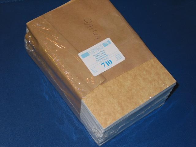 LINDNER 500 Pergamin-Tüten Nr. 710 - 115x160 mm + 20 mm Klappe 0
