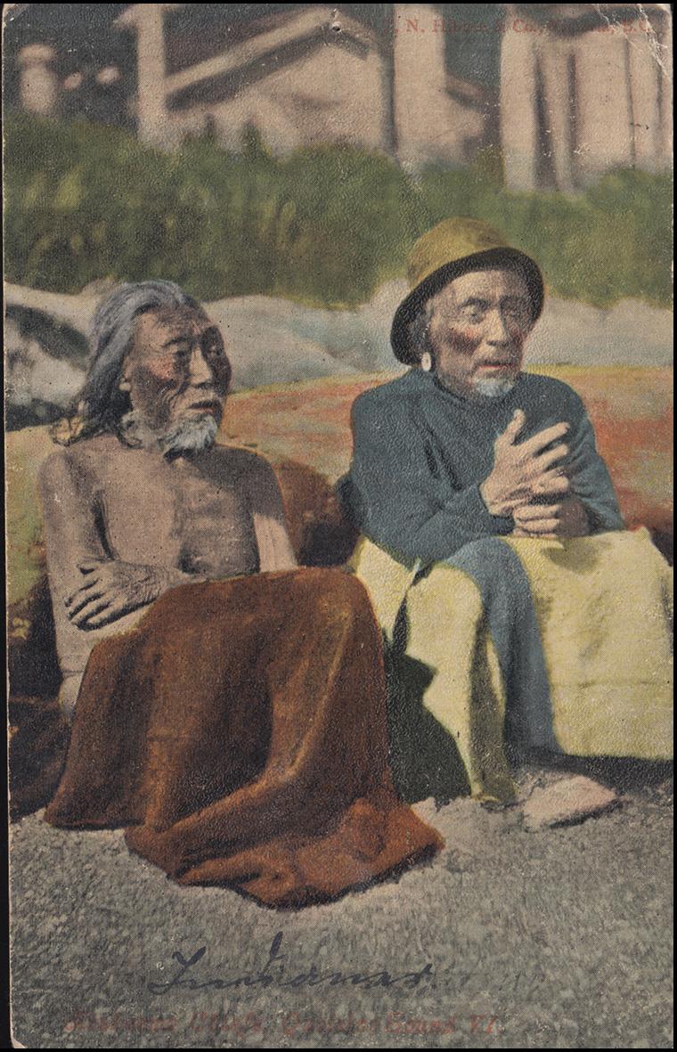 Ansichtskarte British Columbia: Ureinwohner, TZOUHALEM 23.12.1908 nach Aachen 0