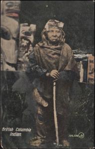 Ansichtskarte Britisch Kolumbien Indianer, HAGAN 25.6.1909 nach Aachen