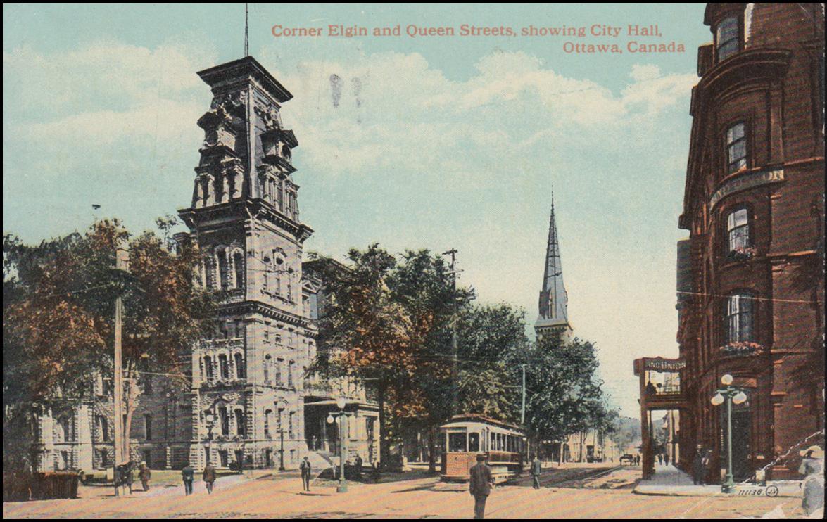Kanada-AK Ottawa Corner Elgin and Queen Streets showing City Hall, 5.10.1920  0