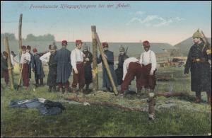 Ansichtskarte Französische Kriegsgefangene bei der Arbeit, LÜBECK 29.9.1915