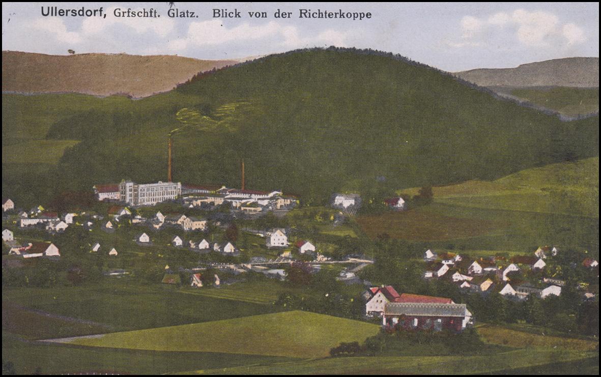 Ansichtskarte ULLERSDORF Grafschaft Glatz - Blick von der Richterkoppe 14.9.1917 0