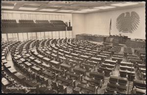 Ansichtskarte Bonn am Rhein: Bundeshaus, Planarsaal, SSt BONN Adenauer 5.1.1956