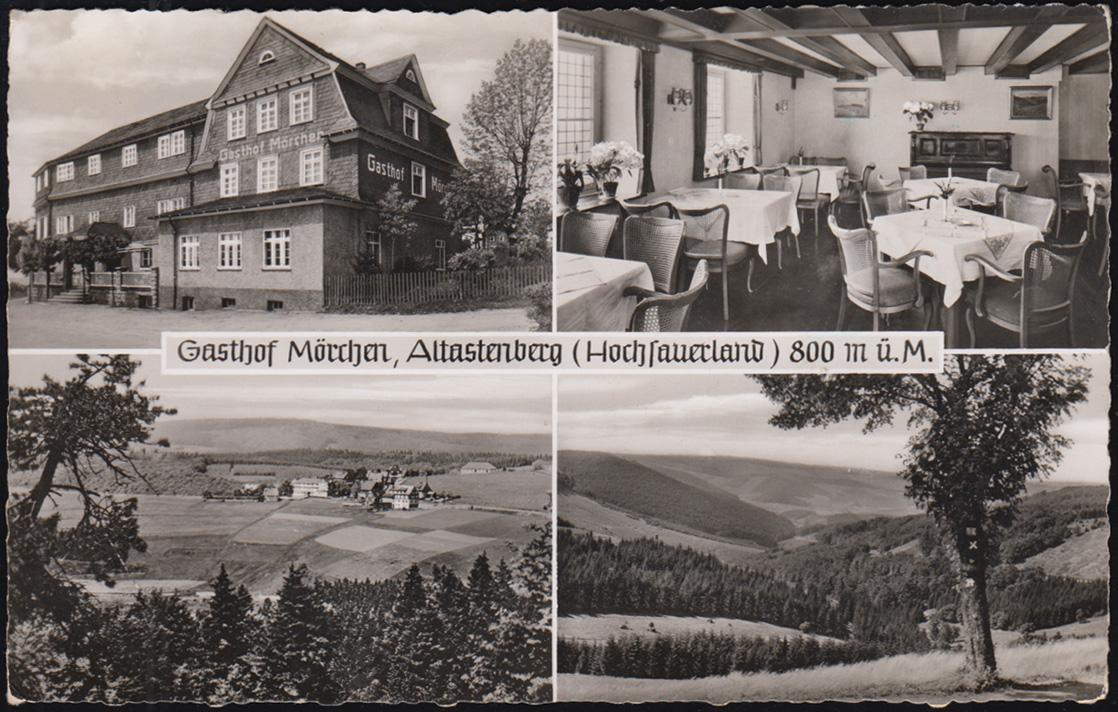 Ansichtskarte Gasthof Mörchen, Altastenberg (Hochsauerland), NORDENAU um 1960 0