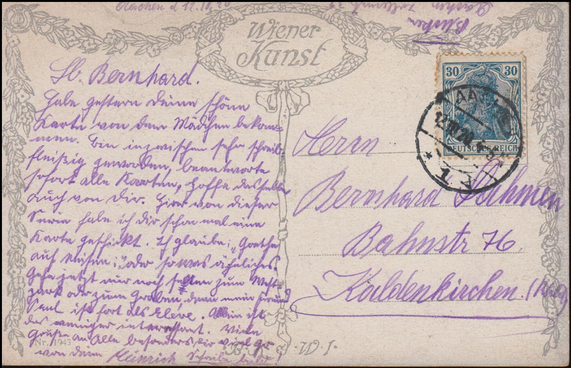 Wiener Kunst Ansichtskarte Felix Riedel: Dreimäderlhaus Schubert, AACHEN 1920 1