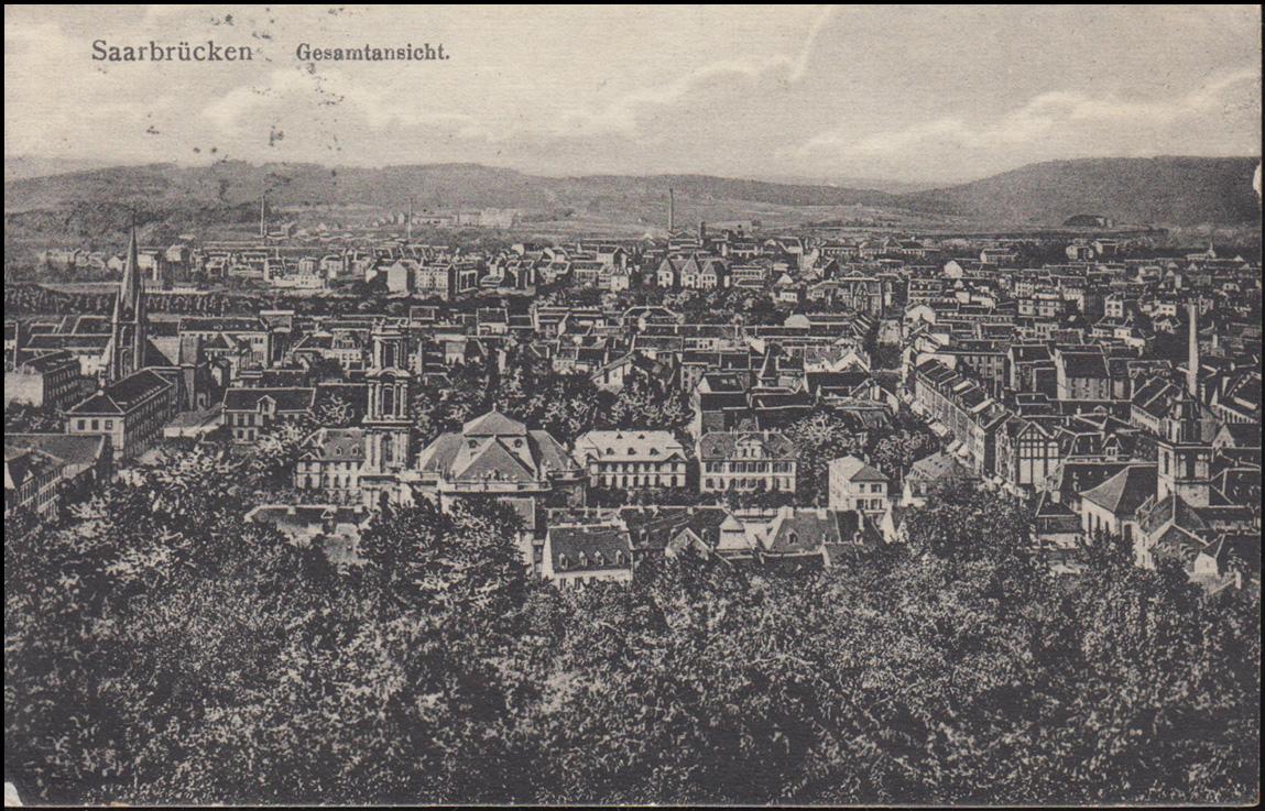 Ansichtskarte Saarbrücken Gesamtansicht, 29.8.1924 nach Breyell 0