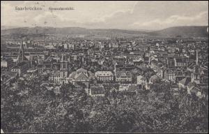 Ansichtskarte Saarbrücken Gesamtansicht, 29.8.1924 nach Breyell