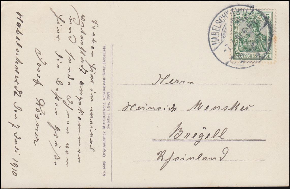 Ansichtskarte Halberstadt - Total, 7.7.1910, gelaufen nach Breyell 1
