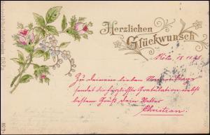 Glückwunschkarte Nr. 3 Kunstanstalt Paul Seyfert / Dresden, CÖLN/RHEIN 18.11.98