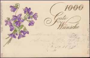 Glückwunschkarte Nr. 5 Kunstanstalt Paul Seyfert / Dresden, CÖLN/RHEIN 14.11.98